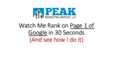 Rank on Google in 30 Seconds
